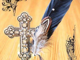 渡り鳥の羽根飾り 黒鳥(キジ)の画像