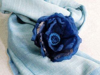 コサージュ木藍染めno.90の画像