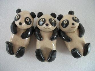 パンダの箸置き3個セットの画像