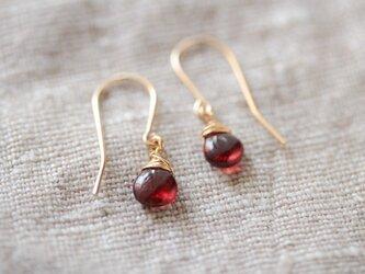 red large hook earringsの画像