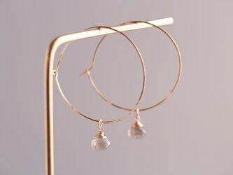 labradorite hoop earringsの画像