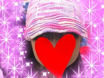 かぎ針編み キッズ帽子の画像