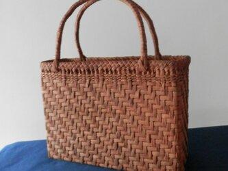 ぶどうつる編みbag 6-9の画像