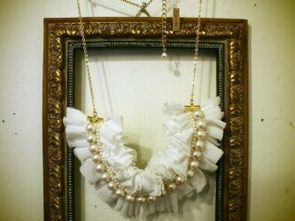 Frill necklace(White)の画像