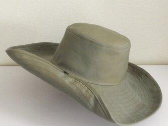 M.15 ボタンUP帽子 オリーブの画像