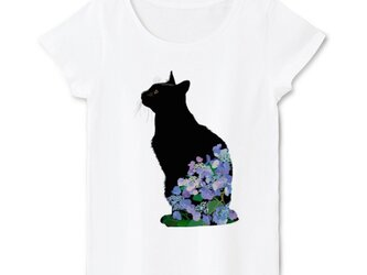 猫ともイラストTシャツ【レディースタイプL/Mサイズ】の画像