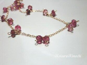 ピンクトルマリンのブレスレット【Ladyのために・・】の画像
