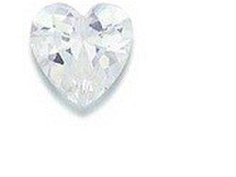 合成石 ホワイト・ジルコン ハートカット5×5mmの画像