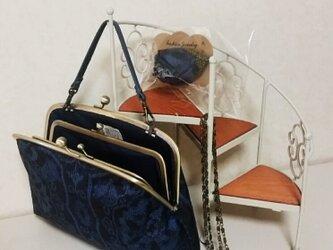 大島紬の3wayバッグの画像