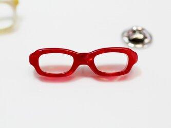 メガネピンズ(スクエア、Sサイズ、赤、短針)の画像