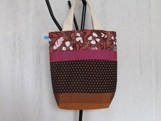 sac1  水玉と小鳥と花のトートバッグの画像