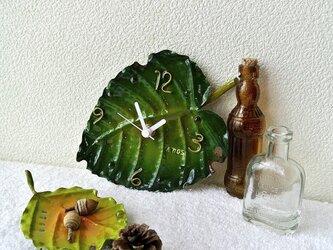 ATOSシリーズ グリーンオアシスの掛け時計 ミニクワズイモの画像