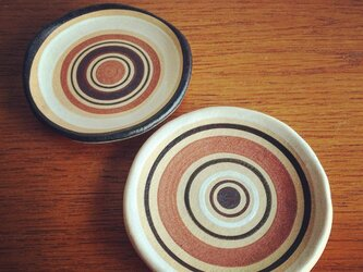 ストライプ豆皿2枚セットの画像