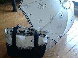 お揃いの日傘とトートバッグ☆ オーダーいたします☆の画像
