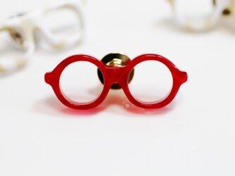 メガネラぺルピン(丸、Sサイズ、長針、赤)の画像