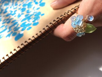 【noilmok】紫陽花のビジューリングの画像