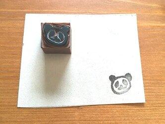 【送料無料】パンダの消しゴムはんこの画像
