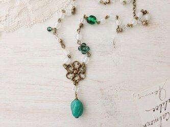 【 A 】ミリアム・ハスケル 緑の水晶 Greensleeves ネックレス の画像