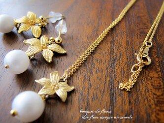*botanical* ネックレス&ピアスsetの画像