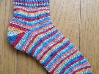 手編み靴下 REGIAの画像
