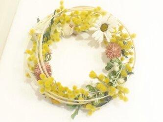 再販・Wreath ミモザと春のお花の画像
