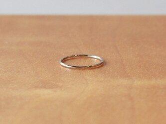 白色十金極細丸棒槌目指輪 rr-65の画像