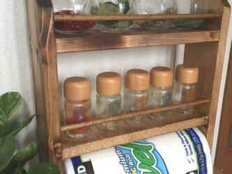 コストコ兼用 3段kitchen paper shelf 全茶 キッチンペーパー スパイスラックの画像