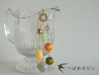 夏色のコラージュ帯飾り《フルーツドロップ》【送料無料】の画像