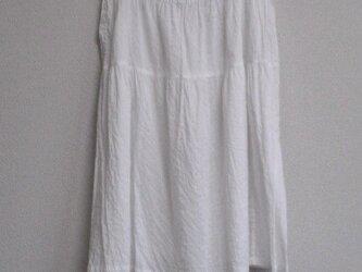 綿ローンのペチコート 白  の画像