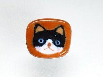 七宝焼き はちわれ猫さんの画像