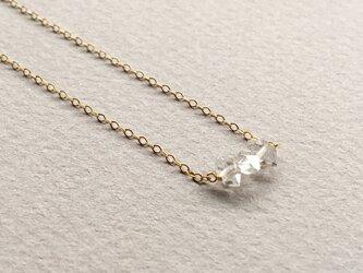 ハーキマーダイヤモンドクォーツのネックレスの画像
