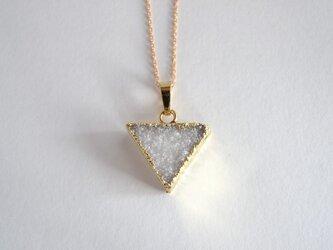 STONE Drusy necklace triangleの画像