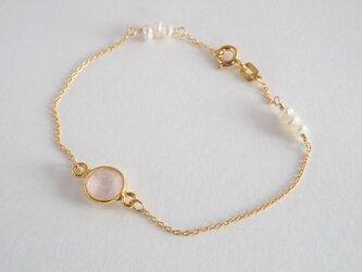 STONE Rose quartz braceletの画像