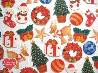 122☆クリスマス☆.。.:*・★フレークシールの画像