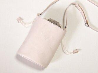 [受注生産] バケツ型のショルダーバッグ 白の画像