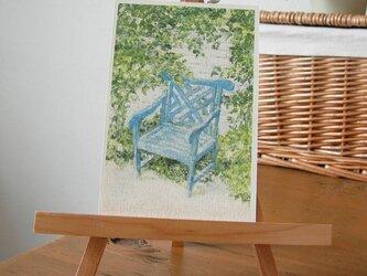 青い椅子 / postcard 2枚組の画像