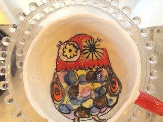 福が来る フクロウマグカップの画像