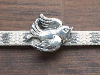 鳩の帯留(ペンダントトップ)925銀 三分四分紐用の画像