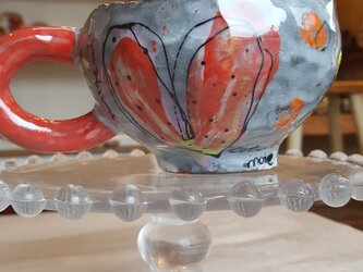 大人かわいいマグカップ ハート❤の画像