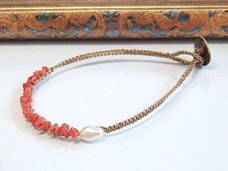 イタリア・サルディーニャ産赤珊瑚ブレスレットの画像