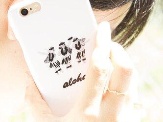 SALE!!!【iPhone/Android対応】aloha hula girls B&W スマートフォンケースの画像