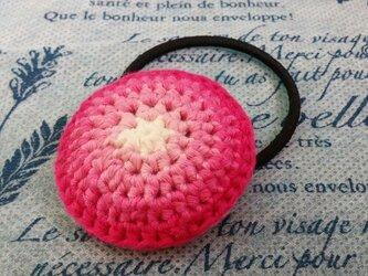 112*オススメ カラフルなまあるいヘアゴム ピンクの画像