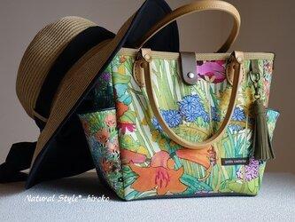 サイドポケットバッグS(リバティ:アリスとアンナのガーデン柄A)の画像