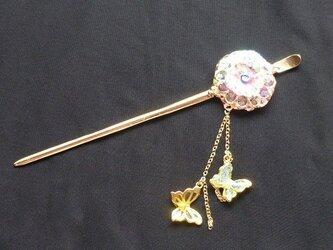 ☆☆ かんざし 菊 「華麗に咲く菊 ピンクラメ 2」 ☆☆の画像