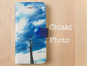 【全機種対応】Sky Blue*iphone/Androidスマホケース【手帳型】の画像