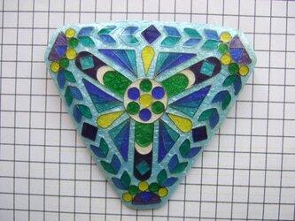 銀七宝 ノートルダム 薔薇窓 三角の画像