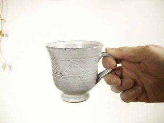 櫛目模様のカップ&ソーサの画像