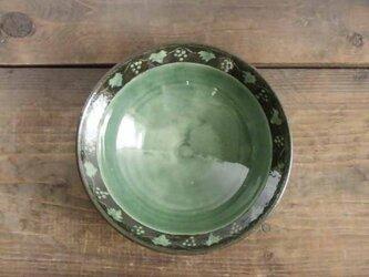 山ブドウの象嵌鉢(織部)の画像