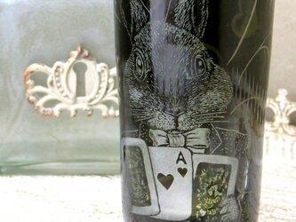 不思議の国 三月うさぎビールグラスの画像