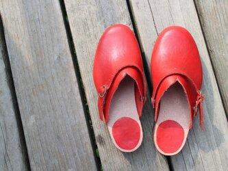 手作りサボ Cammariere(赤)の画像